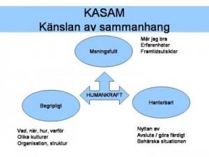 KASAM är ett sätt att förklara hälsa på, myntat av Antonovsky och välanvänt som Health Management-student