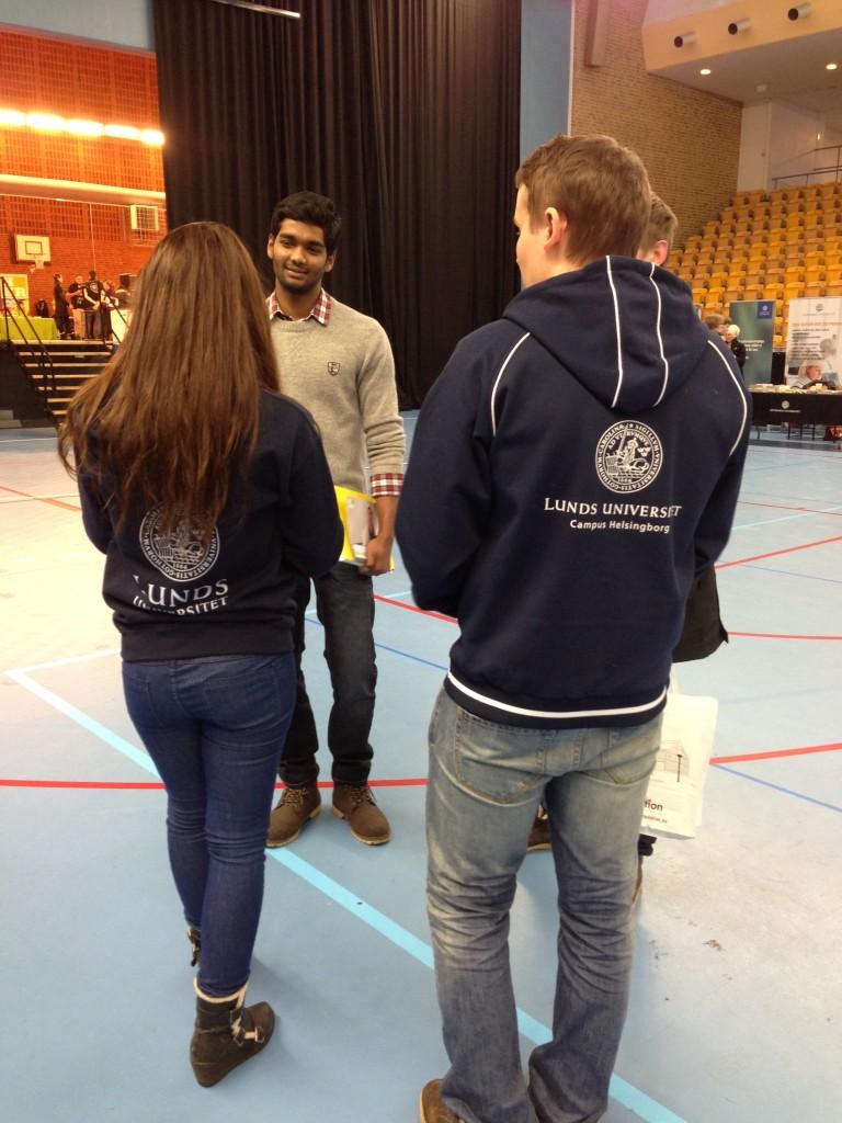 In i det sista försökte jag och ISKs ambassadör Albane övertyga Helsingborgs gymnasieelever om fördelarna med Campus.